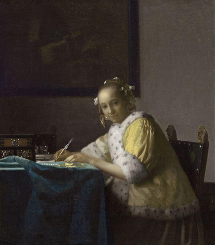 Yazı Yazan Kadın, 1665 dolayları resmi
