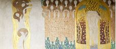 Show Beethoven Frieze: Chorus of Paradise, Embrace ((Long wall, Panel 2), 1901 details