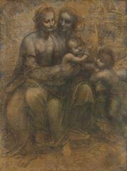 Burlington House Taslağı, 1499-1500 dolayları, Kâğıt üzerine kömürkalem ve tebeşir, 141.5 x 104.6 cm, The National Gallery, London, İngiltere.