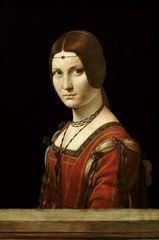 Bir Kadın Portresi (La Belle Ferronière), 1490-1496, Ahşap üzerine yağlıboya, 63 x 45 cm, Musée du Louvre, Paris, Fransa.