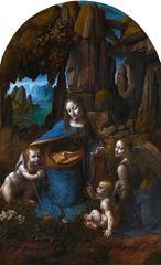 Kayalıklar Madonnası, 1491-1491 ve 1506-1508, Ahşap üzerine yağlıboya, 189.5x 120 cm, The National Gallery, London, İngiltere.