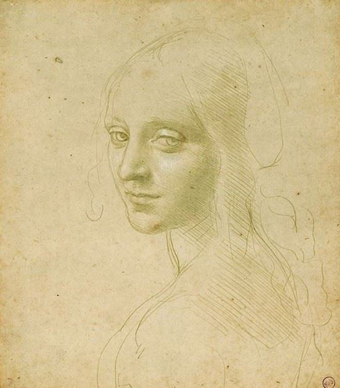 Picture for Study for the Angel of the Virgin of the Rocks, 1483-1485