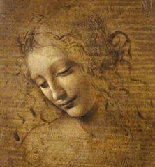 La Scapigliata, 1500 dolayları,  27 x 21 cm, Galleria Nazionale, Parma, İtalya.