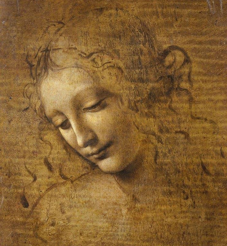 La Scapigliata (Bir Kadının Başı), 1508 dolayları resmi