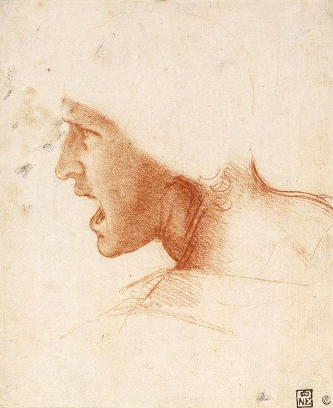 Picture for Study for the Head of a Soldier in the Battle of Anghiari, c. 1504-1505