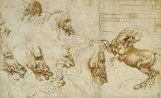 Show Expressions of Fury in Horses, a Lion and a Man, c. 1503-1504 details