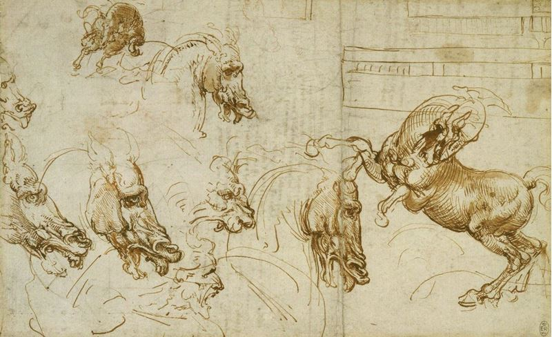 Picture for Expressions of Fury in Horses, a Lion and a Man, c. 1503-1504