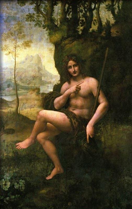 Vaftizci Yahya - Bacchus, 1513-1516 dolayları resmi