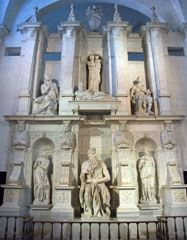 II. Julius'un Anıtmezarı, 1545, Mermer, San Pietro in Vincoli, Rome, İtalya.