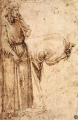 İki Figür, Giotto'nun izinden, 1490 dolayları, 32 x 19.7 cm, Musée du Louvre, Paris, Fransa.