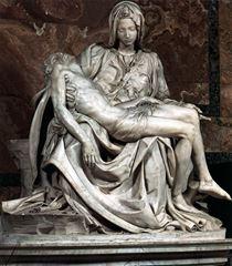 Pietà, 1499, Mermer, 174 cm, Basilica di San Pietro, Vatikan.