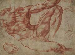 Adem'in yaratılışı için eskiz, 1511, 19.3 cm x 25.9 cm, British Museum, London, İngiltere.