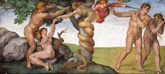İlk Günah ve Cennetten Kovuluş, Sistine Şapeli tavanından ayrıntı.