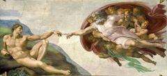 Adem'in Yaratılışı, Sistine Şapeli tavanından ayrıntı.
