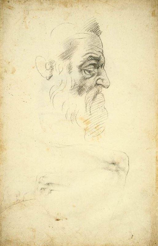 Zekeriya Peygamber için çalışma, 1508 dolayları resmi