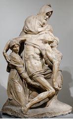Pietà Bandini, 1550 dolayları, Mermer, 226 cm, Museo dell'Opera del Duomo, Florence, İtalya.