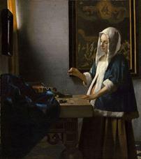 Show Woman Holding a Balance, c. 1664 details