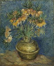 Show Imperial Fritillaries in a Copper Vase, 1887 details