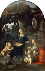 Kayalıklar Madonnası, 1483-1490, Ahşap üzerine yağlıboya, 199 x 122 cm, Musée du Louvre, Paris, Fransa.