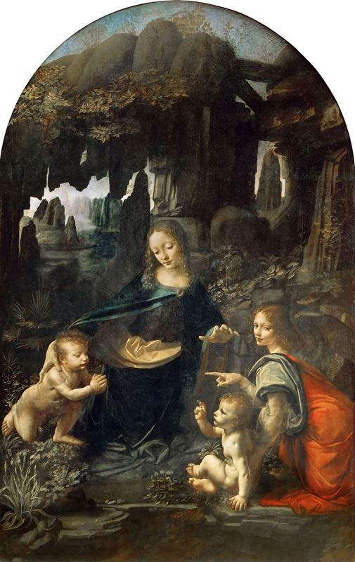Kayalıklar Madonnası, 1483-1486 resmi