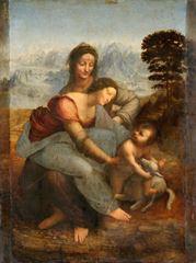 Meryem ve Çocuk İsa, Azize Anna ile, 1503–1519, Ahşap üzerine yağlıboya, 168 x 130 cm, Musée du Louvre, Paris, Fransa.