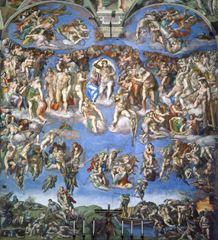 Mahşer, 1536-1541, Fresk, 1370 x 1220 cm, Cappella Sistina, Vatikan.