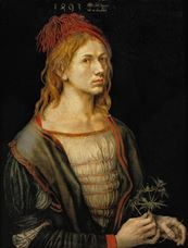 Show Self-Portrait of the Artist Holding a Thistle, 1493 details