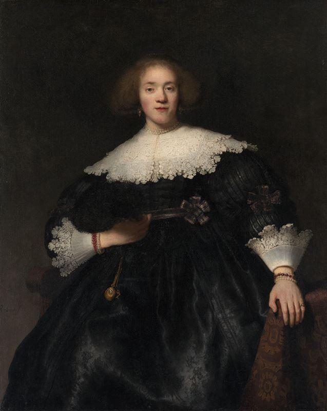 Yelpazeli Genç Kadının Portresi, 1633 resmi
