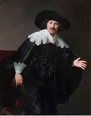 Show Portrait of a Man Rising from His Chair, 1633 details
