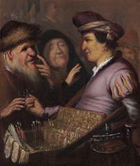 Seyyar Satıcı (Görme), 1624 dolayları, Panel üzerine yağlıboya, 21 x 17.8 cm, Museum De Lakenhal, Leiden, Hollanda.