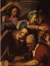 Show Christ Driving the Money Changers from the Temple, 1624-1625 details