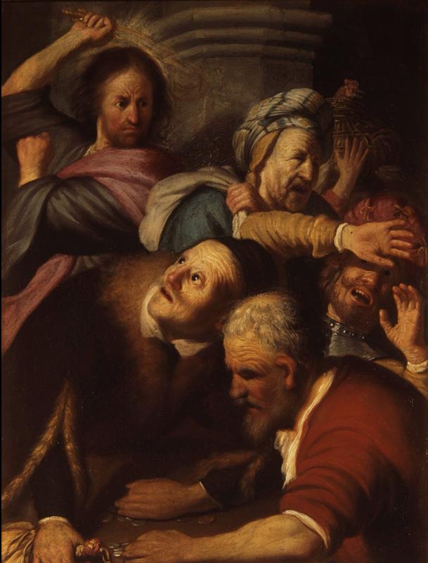 İsa'nın Tacirleri Tapınaktan Kovması, 1624-1625 resmi