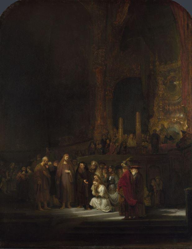 İsa ve Günahkâr Kadın, 1644 resmi
