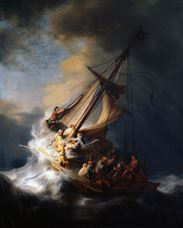 Show The Storm on the Sea of Galilee, 1633 details