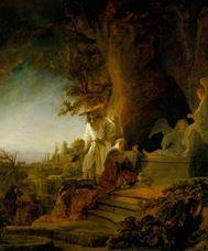 İsa ve Mecdelli Meryem Mezarda, 1638