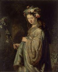 Flora, 1634, Tuval üzerine yağlıboya, 125 x 101 cm, Hermitage Museum, St. Petersburg, Rusya.