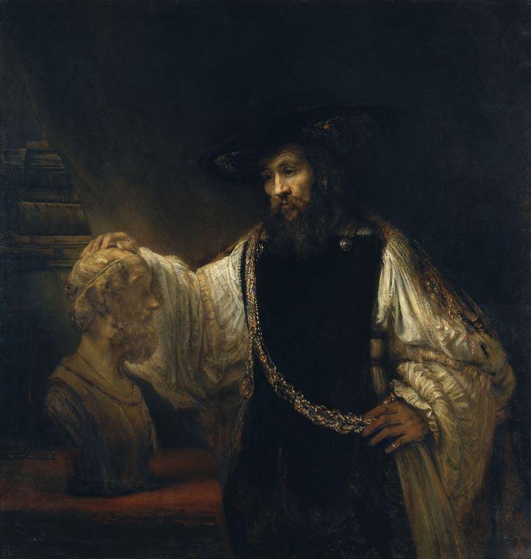 Aristoteles ve Homeros Büstü, 1653 resmi
