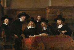 Amsterdam Kumaşçılar Loncası Seçici Kurulu, 1662, Tuval üzerine yağlıboya, 191.5 x 279 cm, Rijksmuseum, Amsterdam, Hollanda.