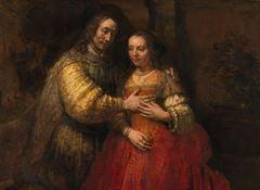 Yahudi Gelin, 1665-1669 dolayları, Tuval üzerine yağlıboya, 121.5 x 166.5 cm, Rijksmuseum, Amsterdam, Hollanda.