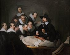 Show The Anatomy Lesson of Dr. Nicolaes Tulp, 1632 details