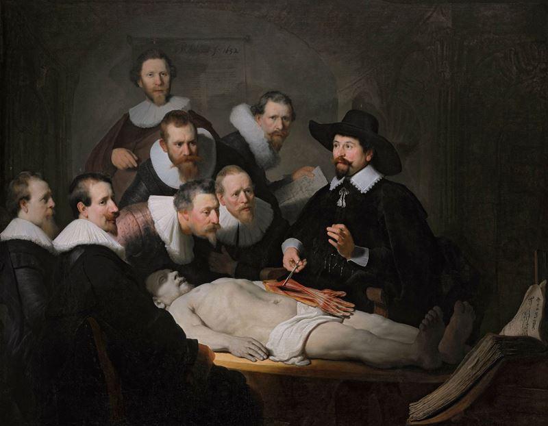 Dr. Nicolaes Tulp'un Anatomi Dersi, 1632 resmi