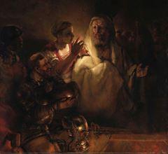 Petrus'un İsa'yı Yadsıması, 1660, Tuval üzerine yağlıboya, 154 x 169 cm, Rijksmuseum, Amsterdam, Hollanda.