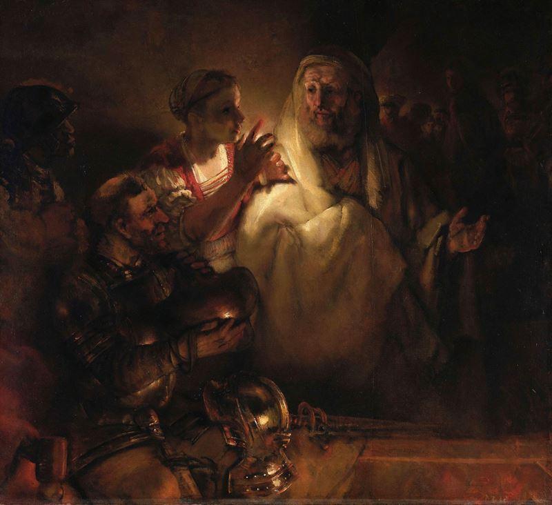 Petrus'un İsa'yı Yadsıması, 1660 resmi