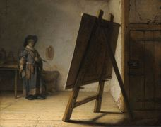 Show Artist in His Studio, 1628 details