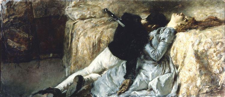 Paolo ve Francesca, Gaetano Previati, 1887 picture