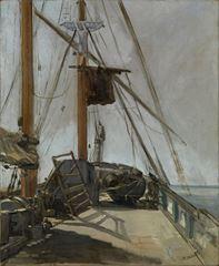 Gemi Güvertesi, 1850 dolayları, Tuval üzerine yağlıboya, 56.4 x 47 cm, National Gallery of Victoria, Melbourne, Avustralya.