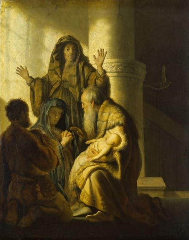 Tapınakta Çocuk İsa ve Simeon, 1627 resmi