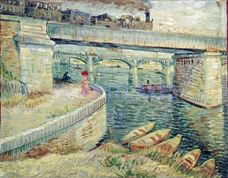 Show Bridges Across the Seine at Asnières, 1887 details