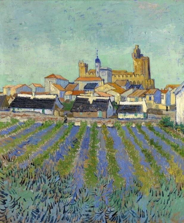 Görünüm Saintes-Maries, 1888 picture