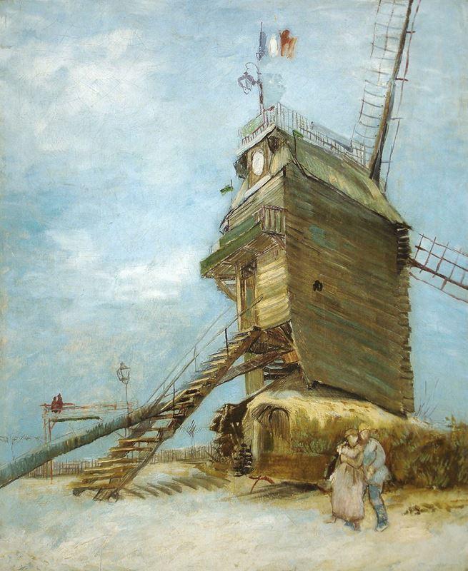 Moulin Blute-Fin'de Bir Çift, 1886 resmi